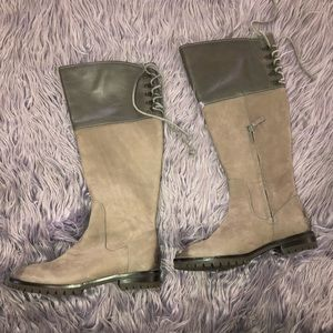 Cole Haan x Nike Air Gray Leather Tall Boots